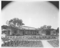 Oldknow House, Bel Air, exterior view, garden elevation