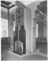Sheehan Apartments, Beverly Hills, fireplace