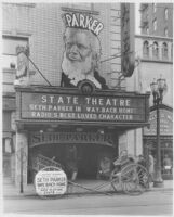 State Theatre, Stockton, marquee before remodel