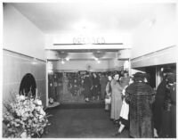 Steven's Clothing Store, interior, with shoppers