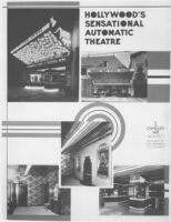 Studio Theatre, Hollywood, exterior and interior views, collage