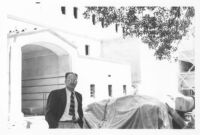Temple Israel, Hollywood, S. Charles Lee at the construction site