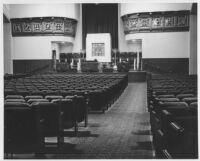 Temple Israel, Hollywood, auditorium, front