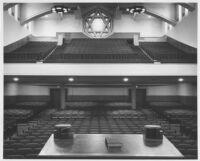 Temple Israel, Hollywood, auditorium, rear