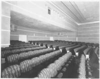 Tower Theatre, Compton, auditorium, rear, side view
