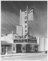 Tower Theatre, Compton, façade, day