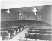 Tower Theatre, Compton, auditorium, front