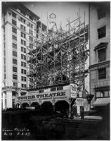 Tower Theatre, Los Angeles, Construction, Broadway elevation 8/2/27