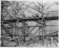 Tower Theatre, Los Angeles, Construction interior, showing scaffolding at balcony 7/16/27