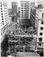 Tower Theatre, Los Angeles, Construction, view from above 5/9/27