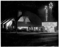 Tumbleweed Theatre, Five Points (El Monte), street elevation, night