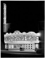 Vern Theatre, Los Angeles, exterior, night