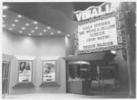Visalia Theatre, Visalia, exterior, night