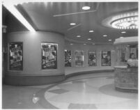 Vogue Theatre, South Gate, lobby, ticket booth
