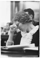Murder suspect Gladys Carter in a courtroom, Los Angeles, 1935