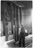 Steel worker at the Columbia Steel Company's plant, Torrance