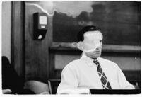 Confessed child-murderer Albert Dyer in court, Los Angeles, 1937