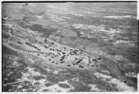 Aerial view from the Tupolev ANT-25 flown from Moscow to San Jacinto, CA, breaking the world long-distance flight record.  July 14, 1937.