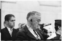 Dr. A.M. Wilkinson, vice crusader, testifies before the Los Angeles County Grand Jury, 1937