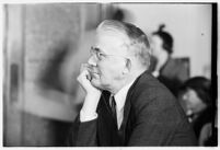 Dr. A.M. Wilkinson, vice crusader, testifies before the Los Angeles County Grand Jury.  September 8, 1937.