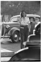 Drive-in waitress, Los Angeles, 1937