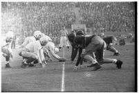 Loyola Marymount Lions play a football game against the Santa Clara Broncos, Los Angeles, 1937