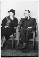 Clifford E. Clinton in court after being cited for contempt, circa December 1, 1937