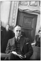Attorney John C. Packard in the courtroom, Los Angeles, 1930s
