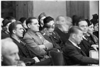 Spectators at the murder trial of Paul A. Wright, Los Angeles, 1938