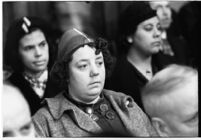 Spectator at the murder trial of Paul A. Wright, Los Angeles, 1938
