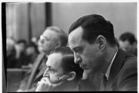 Accused murderer Paul A. Wright in court, Los Angeles, 1938.