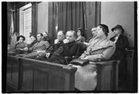 Jury for the trial of accused murderer, Paul A. Wright.  Circa January 17, 1938.