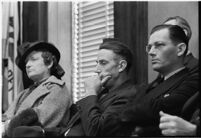 Carl Miller, a juror for the murder trial of Paul A. Wright, Los Angeles, 1938