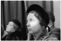 Mrs. Edith V. Gale, a juror on the murder trial of Paul A. Wright, Los Angeles, 1938