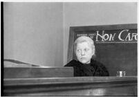 Private detective Pearl Antibus testifies against millionaire Thomas W. Warner, Sr., Los Angeles, 1938