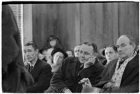 Police Captain Earle E. Kynette sits in court after being charged with conspiracy to commit murder, Los Angeles, 1938