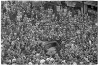 Crowds gathered for the Mystic Shrine's Durbar festival, Los Angeles, 1937
