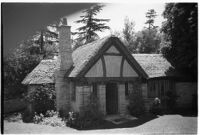 Miniature old English house on 4-year-old Gloria Lloyd's private mini-estate on her parent's sixteen-acre estate, Beverly Hills, 1927