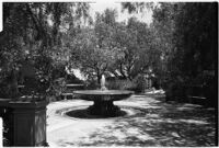 Fountain on the estate of film comedian Harold Lloyd and his wife Mildred, Beverly Hills, 1927