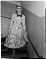 "Prima ballerina Mia Slavenska in costume for the ballet ""Ghost Town,"" Los Angeles, 1940"