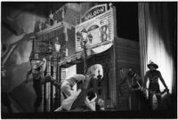 "Ballet dancers on stage in the Ballet Russe de Monte Carlo performance of ""Ghost Town,"" Los Angeles, 1940"