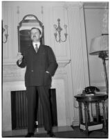 Sir Alfred Duff Cooper during his national lecture tour, Los Angeles, 1940