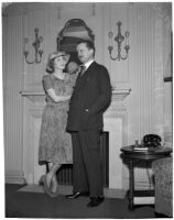 Sir Alfred Duff Cooper and his wife Lady Diana Cooper after travelling by train on a national lecture tour, Los Angeles, 1940