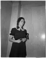 Constance Mary Cline in mourning, Los Angeles, 1941