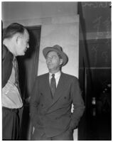 "Detective Lieutenant Lloyd Hurst with George ""Dutch"" Meyers, Los Angeles"