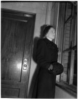 Cherrie Armour, the year of her alimony dispute and a damages suit following a hit-and-run automobile accident, Los Angeles, 1940