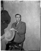 Alexander Sparks, the first husband of Doris Dazay, at the murder trial of George Dazey, Los Angeles, 1940