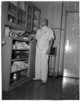 Nurse Bill Pearce in the hospital, Los Angeles