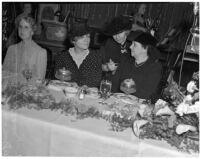 Secretary of Labor Frances Perkins, Mae Stoneman and Mary La Dame at banquet of the California Federation of Democratic Women's Study Clubs, Los Angeles, 1940