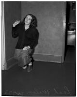 Leah Wilson in the County Jail after pleading guilty to charges of bigamy, Los Angeles, 1940